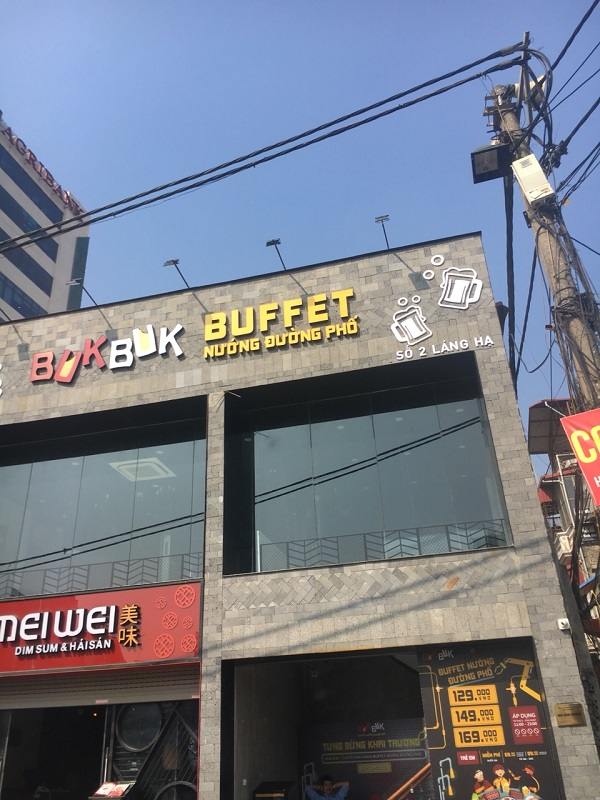 tư vấn và báo giá chuông gọi không dây cho quán buffet bukbuk