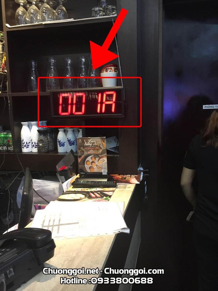 bảng hiển thị số lắp đặt tại quán ăn- nhà hàng daruma