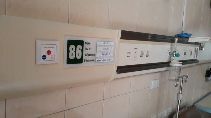 Lắp đặt chuông gọi phục vụ cho bệnh viện Bạch Mai